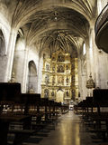 Binnenlandse christelijke kerk stock foto