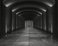 Binnenlandse concrete kluis Royalty-vrije Stock Afbeeldingen