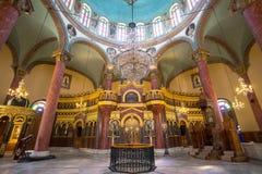 Binnenlandse details van St George kerk, in Egypte Stock Afbeeldingen