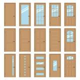 Binnenlandse deuren Stock Fotografie