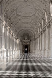 Binnenlandse galerij van koninklijk paleis van Venaria Reale in Piemonte, U Stock Afbeeldingen