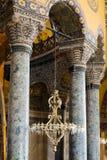 Binnenlandse Hagia Sophia, Aya Sofya in Istanboel Turkije Stock Afbeelding
