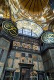 Binnenlandse Hagia Sophia, Aya Sofya-museum in Istanboel Turkije Royalty-vrije Stock Afbeeldingen