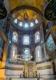 Binnenlandse Hagia Sophia, Aya Sofya-museum in Istanboel Turkije Stock Foto's