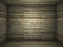 Binnenlandse houten ruimte royalty-vrije stock afbeelding