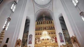Binnenlandse Kathedraal stock footage