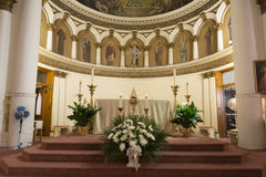 Binnenlandse Katholieke kerk Heilige Leonard Stock Fotografie