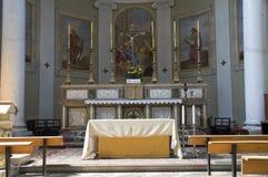 Binnenlandse Kerk. Castiglione del Lago. Umbrië. Royalty-vrije Stock Foto's