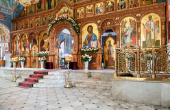 Binnenlandse Kerk van de Verrijzenis in de Heilige Verrijzenis Mon Stock Afbeeldingen