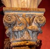 Binnenlandse Kolommen in het Paleis van de Doge in Venetië royalty-vrije stock foto's