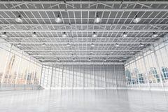 Binnenlandse lege fabriek Royalty-vrije Stock Afbeeldingen