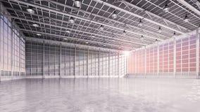 Binnenlandse lege fabriek Stock Foto