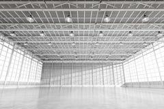Binnenlandse lege fabriek Stock Fotografie