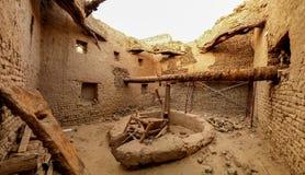 Binnenlandse mening aan de oude stad van Balat, Dakhla-oase, Egypte royalty-vrije stock fotografie
