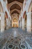 Binnenlandse mening in Anagni-Kathedraal, provincie van Frosinone, Lazio, centraal Italië royalty-vrije stock afbeelding