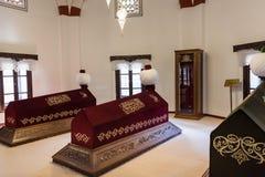 Binnenlandse mening van Akshamsaddin-graf in Bolu, Turkije royalty-vrije stock fotografie