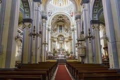 Binnenlandse mening van de Kapel van Jesus Nazareno (Parroquia DE Nues Royalty-vrije Stock Afbeeldingen