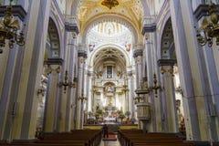 Binnenlandse mening van de Kapel van Jesus Nazareno (Parroquia DE Nues Stock Foto's
