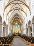 Binnenlandse mening van de Kerk van St Florian, Florinskirche in Koblenz, Duitsland royalty-vrije stock foto