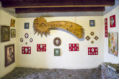 Binnenlandse mening van de Sacra Abdij van Di San Michele-Saint Michael Stock Afbeelding
