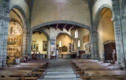 Binnenlandse mening van de Sacra Abdij van Di San Michele-Saint Michael Royalty-vrije Stock Foto