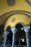Binnenlandse mening van Hagia Sophia. Royalty-vrije Stock Foto's