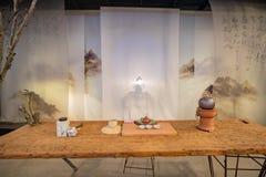 Binnenlandse mening van het Bloesempaviljoen van Taichung-Wereld Flora Exposition royalty-vrije stock afbeeldingen