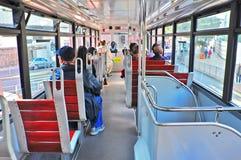 Binnenlandse mening van Hongkong tram Royalty-vrije Stock Afbeelding