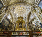 Binnenlandse mening van Kerk van Santo Domingo Stock Fotografie