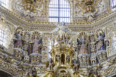 Binnenlandse mening van Kerk van Santo Domingo Royalty-vrije Stock Afbeelding