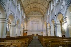 Binnenlandse mening van Predigerkirche-kerk Stock Afbeeldingen