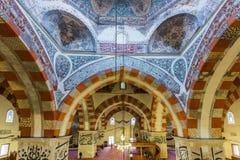 Binnenlandse mening van Selimiye-Moskee in Edirne, Turkije royalty-vrije stock afbeeldingen