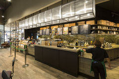 Binnenlandse mening van STARBUCKS-koffie in Centrale Westgest op 10 sep, 2 Royalty-vrije Stock Fotografie