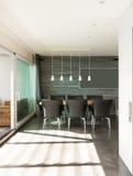 Binnenlandse, moderne flat Royalty-vrije Stock Fotografie