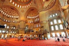 Binnenlandse moskee - Istanboel, Turkije royalty-vrije stock foto's