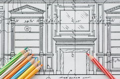 Binnenlandse ontwerpdetails stock illustratie