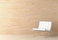 Binnenlandse ontwerphout en stoel Stock Afbeeldingen