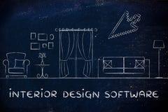 Binnenlandse ontwerpsoftware Royalty-vrije Stock Afbeelding