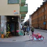 Binnenlandse ontwerpwinkel op Södermalm Stock Foto's