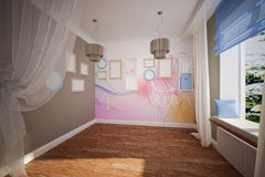 Binnenlandse ruimte leeg in moderne stijl Stock Foto's