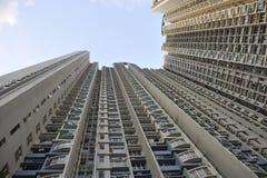 Binnenlandse sociale woningbouw in Hongkong Stock Afbeeldingen