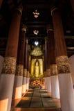 Binnenlandse Thaise tempel Royalty-vrije Stock Afbeeldingen