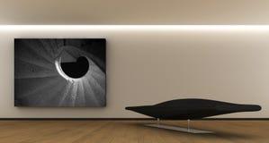 Binnenlandse whit een paneel vector illustratie
