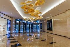 Binnenlandse Wolkenkrabbers in Abu Dhabi, Verenigde Arabische Emiraten Stock Fotografie
