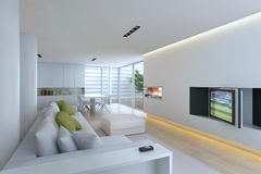 Binnenlandse woonkamer Stock Afbeeldingen