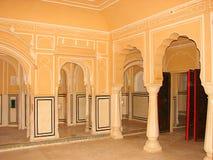Binnenlandse Zaal van Hawa Mahal Palace, Jaipur, Rajasthan, India royalty-vrije stock afbeelding