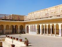 Binnenlandse Zaal van Hawa Mahal Palace, Jaipur, Rajasthan, India stock afbeelding
