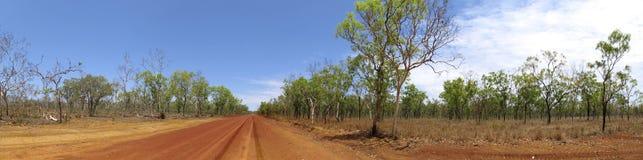 Binnenlandweg, Australië Stock Foto