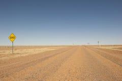 Binnenlandweg in ver Queensland, Australië Royalty-vrije Stock Foto's