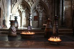 Binnenlincoln cathedral royalty-vrije stock fotografie